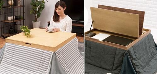 Ngăn kéo bí ẩn trong chiếc bàn sưởi ấm kiểu Nhật